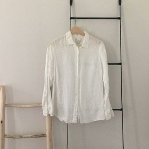J.crew jcrew perfect for linen button up blouse 6